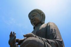 Big Buddha meditation, Hong Kong Royalty Free Stock Photography