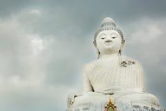 Big Buddha monument on island of Phuket in Thailand. Royalty Free Stock Photography