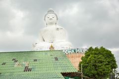 Big Buddha monument on island of Phuket in Thailand. Royalty Free Stock Photos