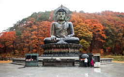 Big Buddha Monument of Sinheungsa. Gangwon-do, South Korea - November 12, 2015: Big Buddha Monument of Sinheungsa Temple in Seoraksan National Park Sokcho, South Royalty Free Stock Images