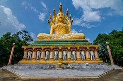 Big buddha on the mountain. Phangnga province Thaland Royalty Free Stock Photography