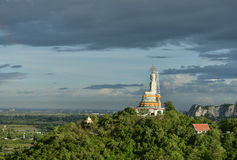 Big Buddha on Mountain in Thailand Royalty Free Stock Photos