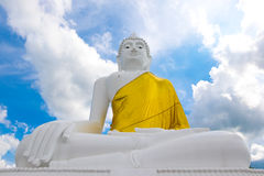 Big Buddha on the Mountain at Udonthani in Thailand, Big buddha. Stone buddhist temple in Thailand royalty free stock photography