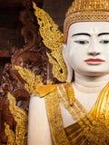 Big Buddha in Ngahtatkyi Pagoda Temple in Yangon. Royalty Free Stock Photos