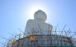 Big Buddha, one of Phukets most important and revered landmarks. Big White Stone Buddha, one of Phukets most important and revered landmarks Stock Photography