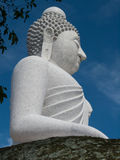 Big Buddha. The Big Buddha overlooks Phuket Island in southern Thailand. It is made from white marble tiles Royalty Free Stock Image