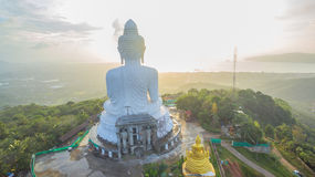 Big Buddha in rainy season Stock Image