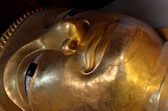 Big buddha. The reclining Buddha in thailand Royalty Free Stock Images