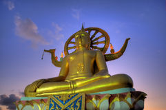 Big buddha on samui island at sunset Stock Photo