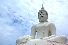 Big buddha sculture Stock Photography