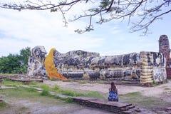 Big Buddha sleep. In Ayuthaya, Thailand Stock Photography