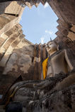 The big Buddha, in Sri Chum temple Royalty Free Stock Photos