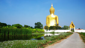 Big Buddha statue. At Wat Muang,Thailand royalty free stock photos