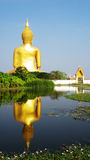 Big Buddha statue. At Wat Muang,Thailand stock photo