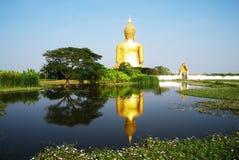 Big Buddha statue. At Wat Muang,Thailand Royalty Free Stock Images