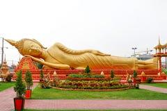 Big Buddha Statue At Wat Pha That Luang In Vientiane Laos Royalty Free Stock Image