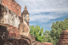 Big Buddha statue and beautiful background. Stock Photos