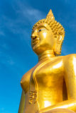 Big Buddha Statue with blue sky background Royalty Free Stock Photography