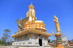 Big buddha statue. Buddha statue at buddhism temple in Roiet province of Thailand Stock Photos
