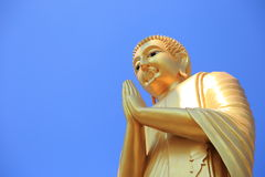 Big buddha statue. Buddha statue at buddhism temple in Roiet province of Thailand Royalty Free Stock Images