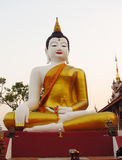 Big Buddha statue in Buddhist temple Royalty Free Stock Images