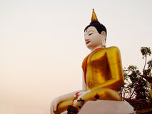 Big Buddha statue in Buddhist temple Royalty Free Stock Photography
