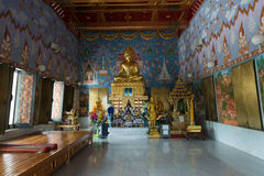 Big Buddha statue in buddhist temple in Thailand Royalty Free Stock Photo