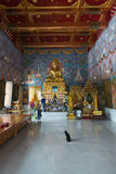 Big Buddha statue in buddhist temple in Thailand Stock Photo