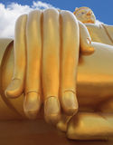 big buddha statue hand and blue sky Stock Image