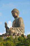 The Big Buddha Statue, Lantau Island. Side view of the giant Buddha statue at Lantau Island Stock Photography