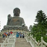 Big Buddha. Statue on the Lantau Island, Hong Kong Stock Image