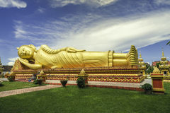 Big Buddha statue in laos. Big buddha statues at That Luang temple, Laos. this is public area for all people Royalty Free Stock Photography