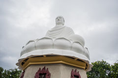 Big Buddha statue at the Long Son pagoda in Vietnam. Big Buddha statue at the Long Son pagoda in Nha Trang Vietnam stock photo
