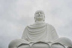 Big Buddha statue at the Long Son pagoda in Vietnam. Big Buddha statue at the Long Son pagoda in Nha Trang Vietnam stock photography