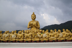Big Buddha statue, Makha Bucha posture Royalty Free Stock Photos
