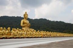 Big Buddha statue, Makha Bucha posture Stock Photos