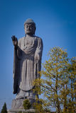 Big Buddha Statue in Narita, Japan. The tallest Buddha statues in the world and definitely the tallest statue in Japan. Ushiku Daibutsu, as the statue is known royalty free stock photography