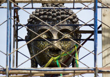 Big Buddha statue at new ordination hall(under constructions) Stock Photography