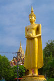 Big buddha statue over scenic blue sky background at Wat Klong r Royalty Free Stock Image