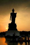 Big buddha image in silhouette Stock Photos