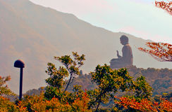 Big Buddha. Statue sit on the hill Royalty Free Stock Photo
