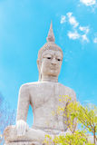 Big buddha statue with sky at Wat Phu Manorom Footprint temple, Stock Images