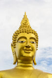 Big buddha statue smiling Stock Photos