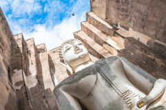 Big buddha statue in the Sukhothai world heritage site in Thaila Royalty Free Stock Photo