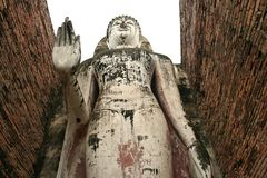 Big buddha statue sukothai thailand Royalty Free Stock Photo
