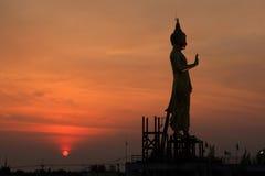 Big buddha. Statue in sunset thailand royalty free stock photo