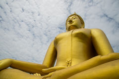 A big Buddha statue Royalty Free Stock Images