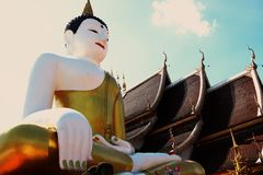 Big Buddha statue at the temple in Thailand. royalty free stock photos