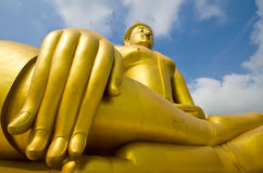 Big buddha statue. In thailand Stock Photography