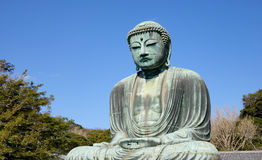 A Big Buddha statue under the blue sky Stock Photo